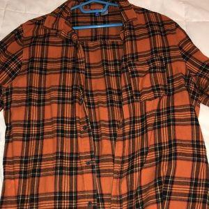 H&M long sleeve orange flannel